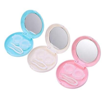 SUPVOX 3pcs Mini estuches para lentes de contacto Caja para ...