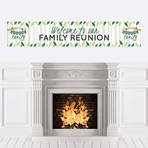 Big Dot of Happiness Family Tree Reunion - Family Gathering Party Decorations Party Banner]()