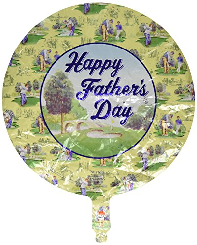 Happy Father's Day Golfing Day 18-inch Foil Balloon