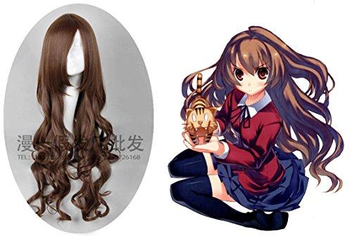 MOOI Toradora! TIGER×DRAGON! Aisaka Taiga Long Curly Cosplay Parry Hair Wig ( Brown ) (Toradora Taiga Cosplay Costume)