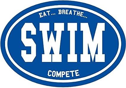 Perfect Swimmer Sport Coach Gift Swim Sticker WickedGoodz Oval Swimming Mom Decal