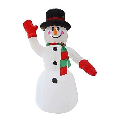 Amazon.com: HOBBMS - Muñeco de nieve inflable con sombrero ...