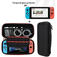 Samhe Nintendo Switch Portable Hard Shell Protective Case 12 Game Cartridge with Screen Protector