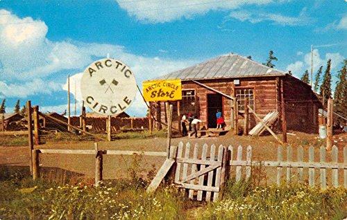 Fort Yukon Alaska Indian Village Circle Vintage Postcard K52817