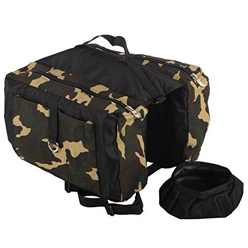 RioRiva Dog Backpack Hound Travel Camping Hiking Saddle Bag Rucksack for Small Medium & Large Pet Dog (XX-Large, (Batman Dog Stuff)