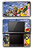 Super Smash Bros Melee Brawl Link Zelda Peach Dr Mario Ice Climbers Mewtwo Bowser Luigi Samus Video Game Vinyl Decal Skin Sticker Cover for Original Nintendo 3DS System