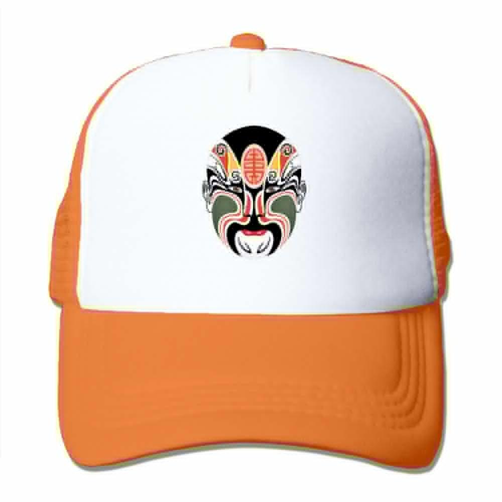 Teesofun Mesh Baseball Caps Beijing Opera Mask Art Unisex Adjustable Sports Trucker Cap
