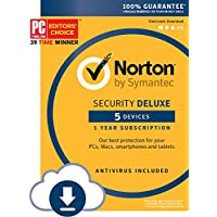 Norton Security Deluxe 5 Devices 1 Year Subscription