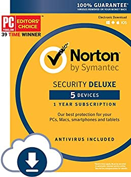 Symantec Norton Security Deluxe for 5 Devices (Key Card)