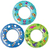 Pool Floats and Swimming Rings for Kids - 3 Pack Inflatable Pool Floats, Beach Floats, Swim Rings Tube Set w/ Original Designs (Unicorns, Dinosaurs, Aliens)