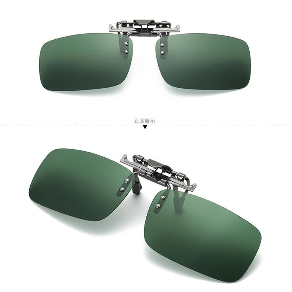 FTXJ Detachable Sunglasses Polarized Lens Driving Metal Clip On Glasses Lens