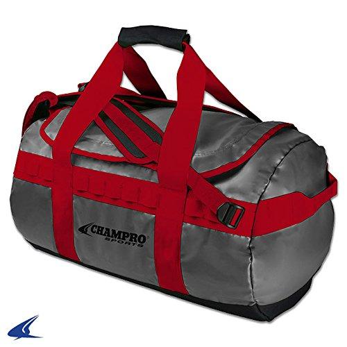 ChamproスポーツハイブリッドDuffel Pack B01HQCF7IEChampro Sports Hybrid Duffel Pack, Scarlet, 24\ Scarlet