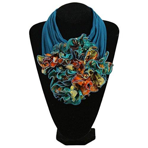 非武装化誰が誓約Haoruiqi 女性の花の首輪のスカーフラグジュアリーフラワーのプリントネッカーのリングのネックスカーフ
