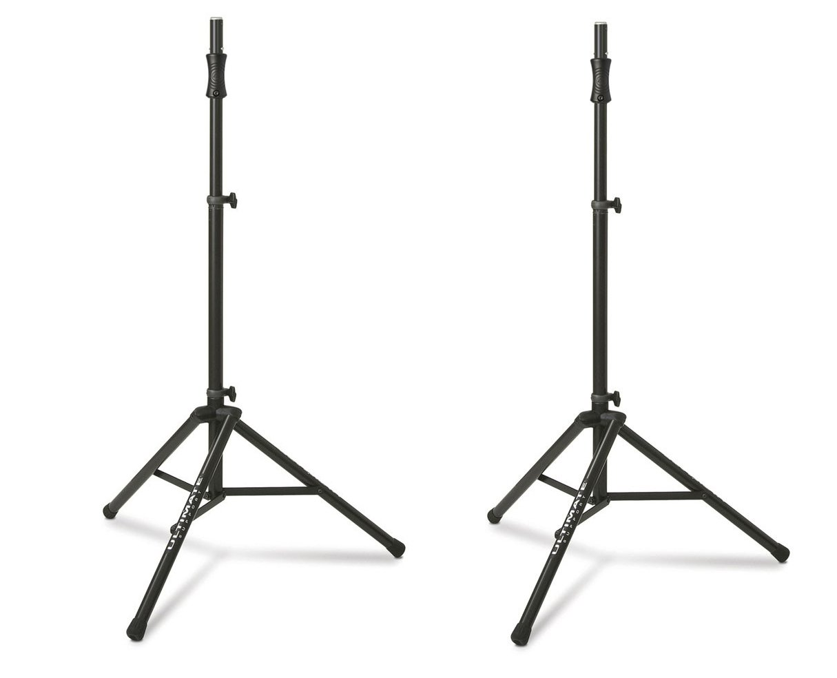 Ultimate Support TS-100B (2-Pack) Lift-Assist Aluminum Tripod Speaker Stands by Ultimate Support