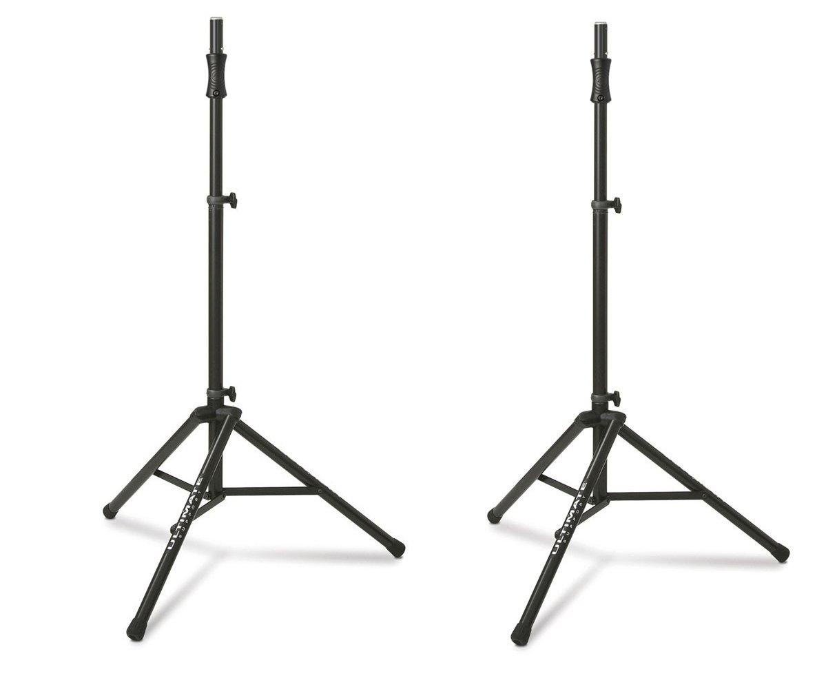 Ultimate Support TS-100B (2-Pack) Lift-Assist Aluminum Tripod Speaker Stands