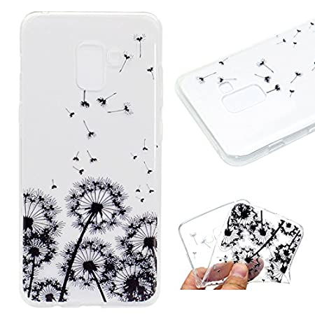 Ultra Thin Slim Transparent Clear Soft TPU Funny Cute 3D Flower Animal Cartoon Design Printed Drawing Pattern Flexible Silicone Bumper Protective Back Cover Case for Samsung Galaxy S9 5.8 inch IKALITE