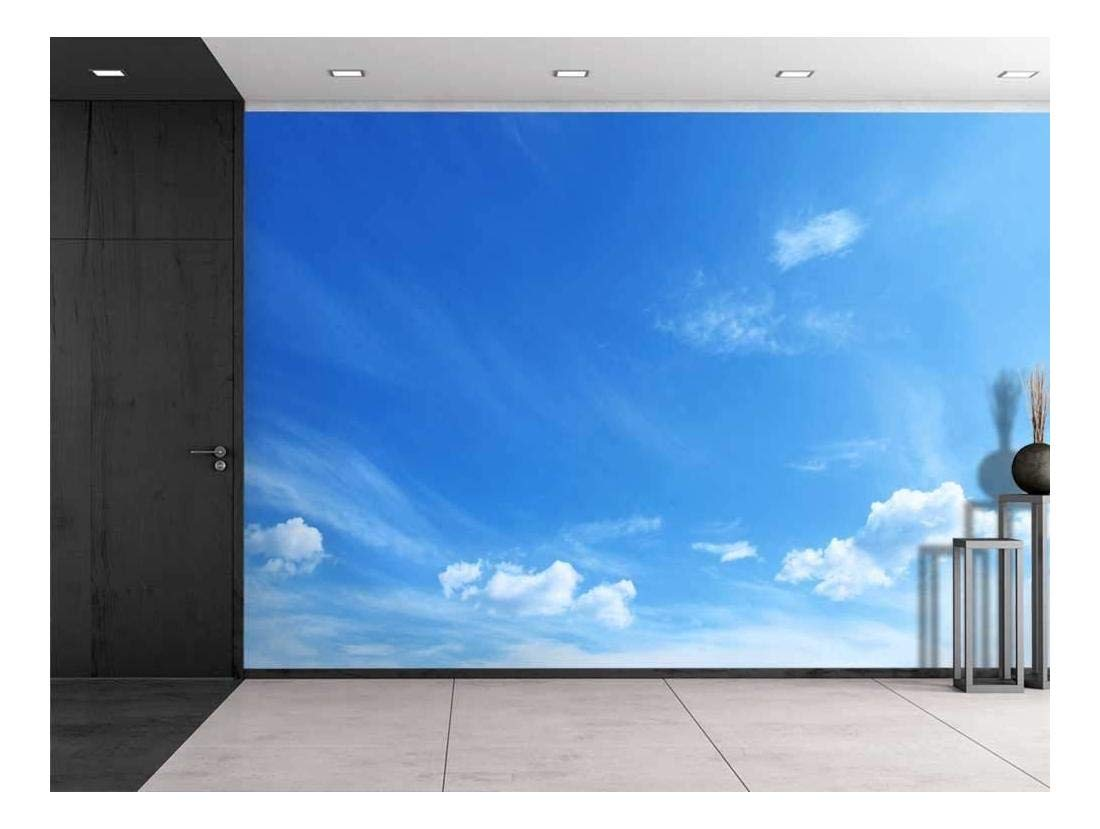 wall26 - Large Wall Mural - Clouds in Sunny Blue Sky | Self-Adhesive Vinyl Wallpaper/Removable Modern Decorating Wall Art - 100'' x 144'' by wall26 (Image #1)