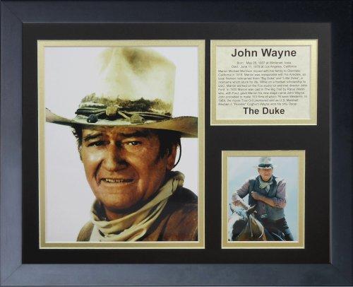 Legends Never Die John Wayne Color Framed Photo Collage, 11x14-Inch (Legends Wayne John Die Never)