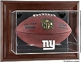 Mounted Memories New York Giants Brown Football Display Case
