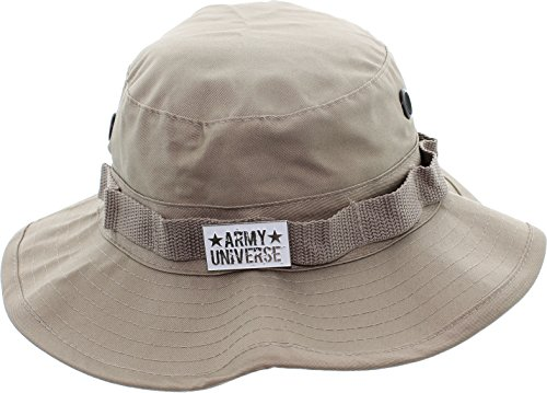 Army Universe Khaki Tactical Boonie Bucket Hat with Pin - Size XX-Large 8