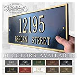 Metal Address Plaque Personalized Cast The Hartford Plaque. Display Your Address and Street Name. Custom House Number