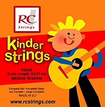 52-57cm RC Strings Kindergitarre 1//2 Klassik Satz KS520 medium tension