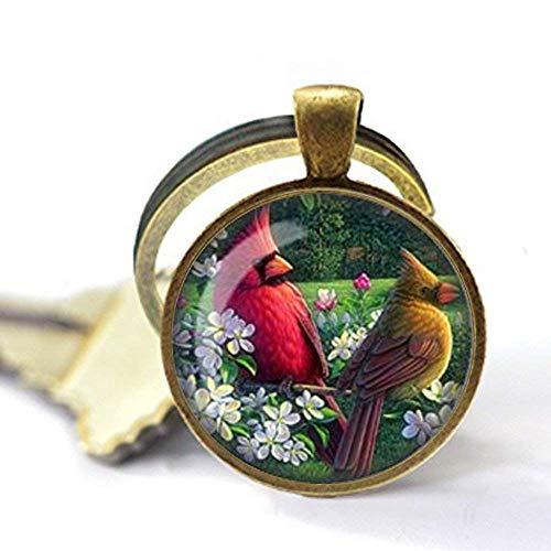 Cardinal Jewelry, Bird Keychain,Art Bird Keychain, Charm Bird Cardinal Keychain Cardinal Gift (Cardinal Bird Charm)