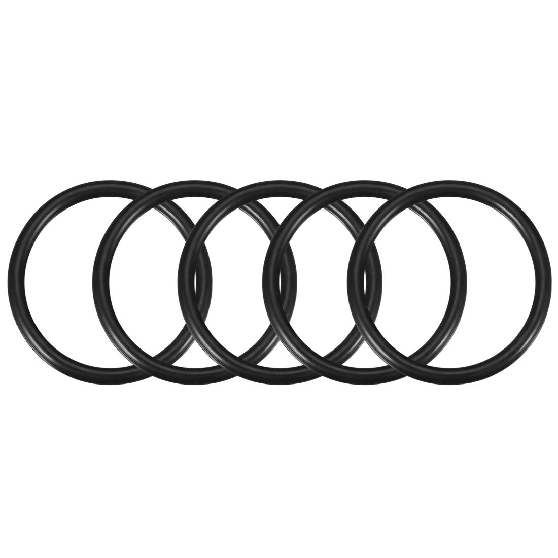 5mm Width,Round Seal Gasket sourcing map O-Rings Nitrile Rubber 65mm OD Pack of 5 55mm Inner Diameter