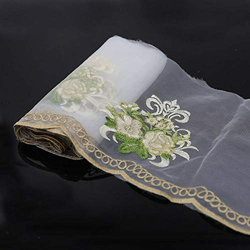 (2-3 Yds Flower Embroidered Mesh Lace Trim Bridal Ribbon Dress Sewing Decor Craft (Style - #4))
