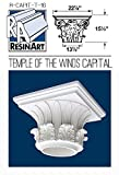 Temple of the Winds Capital for Hollow Column - XXL Size - Composite Resin - Unfinished - Paint Ready - Load Bearing - Dimensions In Images/Details