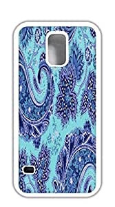 Custom Cover Case with Hard Shell Protection case for samsung galaxy s5 for girls - Turquoise Paisley