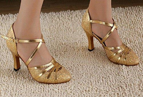 CFP - Zapatillas de danza de tela para mujer Dorado dorado WBzuXpAoU