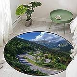 Round Kids Bedroom Mats Decorative Natural View