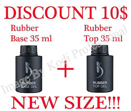 Kodi Professional NEW SIZE Rubber Base + Rubber Top 35 ml. 1.18 oz 2pcs. Nail Polish Coat Soak Off Gel Polish Led UV (Best New Kodi Add On)