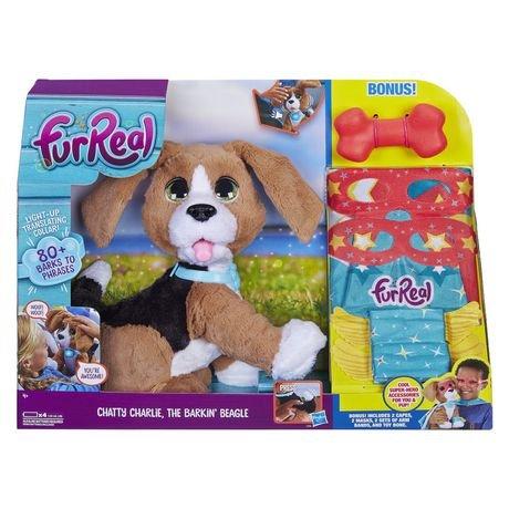 FurReal Friends Chatty Charlie, The Barkin' Beagle, English with Bonus Super hero Costume The Barkin' Beagle Hasbro