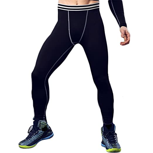 929308365b516c Image Unavailable. Image not available for. Color: Sanke Men's Basketball Compression  Tights Dry Cool Sports Pants Baselayer Leggings