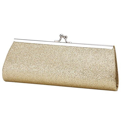 Music Coin Purse (Best-topshop Giltter Handbag for Women Girls, Metal Chain Coin Phone Bag for Wedding Shopping Date Evening Cocktail Party School Outdoor (Gold))