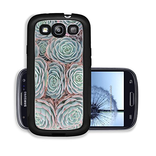 Liili Premium Samsung Galaxy S3 Aluminum Case Hens and Chicks or House leek Succulent Image ID 23066503
