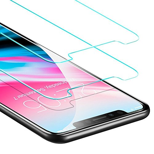 iPhone X Screen Protector Glass, Tempered Glass Screen Protector for iPhone X, 9H hardness HD Clear Touch Accurate Easy Installation (2 Pack)