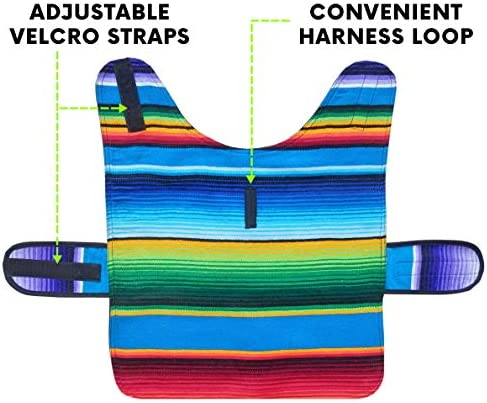 Handmade Dog Poncho from Mexican Serape Blanket - Dog Clothes - Coat - Costume - Sweater - Vest 50