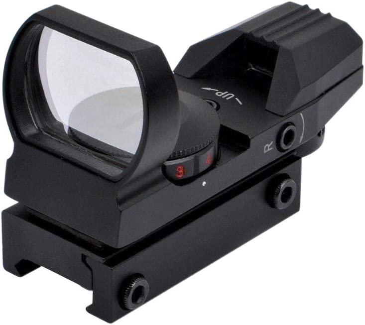 Feyachi Reflex Sight - Adjustable Reticle (4 Styles) Both Red and Green in one Sight!