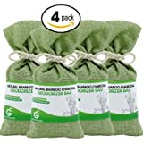 4-Pack Great Value SG Bamboo Charcoal Deodorizer Bag, Best Air Purifiers for Smokers & Allergies, Perfect Car Air Fresheners, Remove Smells for Home & Bathroom (4, Green)