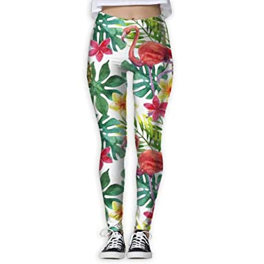 55526cb12285a Flamingo Pineapple High Waist Out Pocket Yoga Pants Tummy Control Workout  Running Stretch Yoga Leggings White