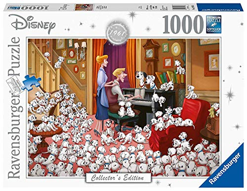 Disney Collectors Edition 1961 101 Dalmations Panorama Puzzle 1000 Piece Professional Soft Click Jigsaw Ages 12+