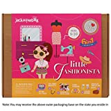 Jackinthebox Art and Craft Kit for Girls - Little Fashionista 6-in-1 DIY Fun Activities for Girls Ages 7-10, Perfect Birthday Gift for Girls Learning Stem Toys by