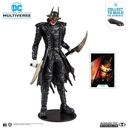 McFarlane Toys 15403-0 DC Multiverse Batman Who Laughs Action Figure with Build-A Rebirth Batmobile (Piece 3), Multicolor