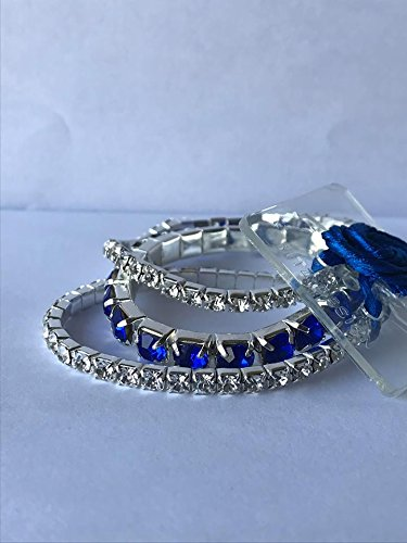 UniqueXpressionsInc Fabulous Flower Corsage Bracelet - Sapphire, DIY, Wedding, Homecoming, Prom, Events, Arts & Crafts and Special Occasions -