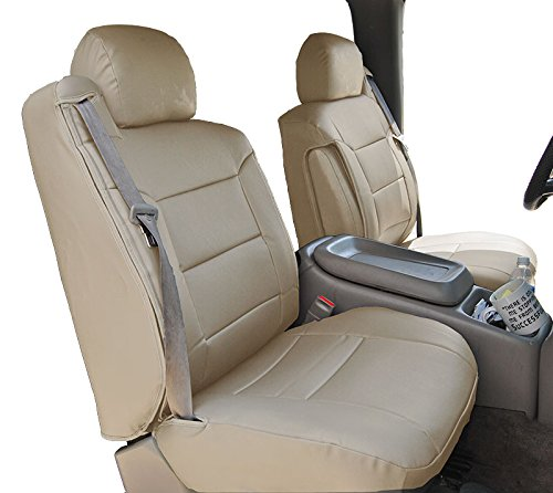 Iggee 2000-2002 CHEVY SILVERADO BEIGE Artificial leather Custom Made Original fit FRONT Seat covers & 2 Armrest covers