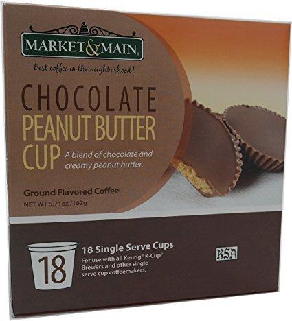 Market & Main Chocolate Peanut Butter Cup Single Serve Coffee (18)