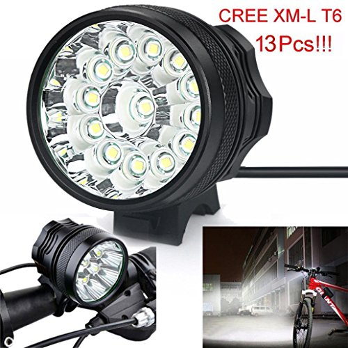 Wotryit 32000LM 13 x CREE XM-L T6 LED 6 x 18650 Bicycle Cycling Light Waterproof Lamp
